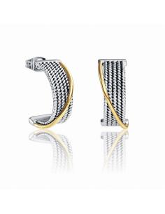 Pendientes Viceroy Fashion. Acero y Acero IP Oro.
