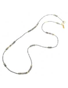 Collar Plata Salvatore Baño Oro Labradoritas