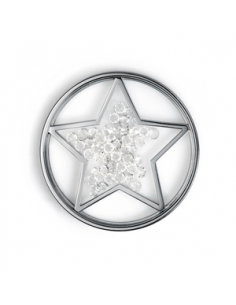 Medallón Viceroy Plaisir. Acero estrella piedras dentro 29mm