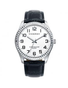 Reloj Hombre Viceroy Acero Esfera Blanca.