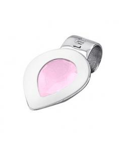 Colgante Lotus Silver plata gota circonita rosa