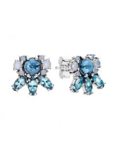 Pendientes Plata Pandora Adornos de Hielo Cristales Azules