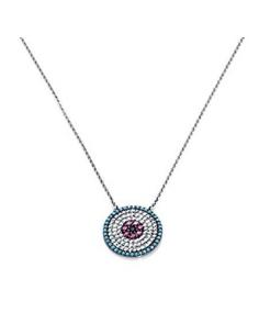 Gargantilla Viceroy Jewels. Circonita Cristal turqesa y ruby