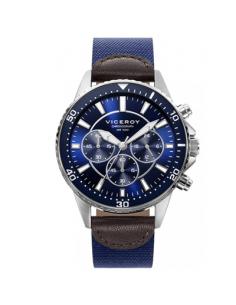 Reloj Hombre Viceroy Cronógrafo Acero Esfera azul