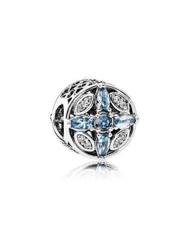 Abalorio Patrones de Hielo. Plata. Circonitas. Cristales.