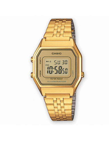 Casio. Señora. Acero IP dorado. Digital.
