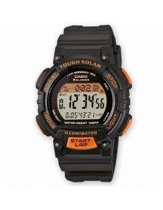 Reloj Hombre Casio Digital Solar Negro y naranja