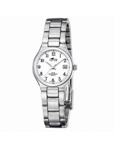 Reloj Mujer Lotus Acero Calendario Esfera blanca