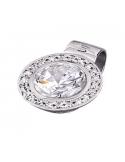 Colgante Lotus Silver plata círculo circonita blanca