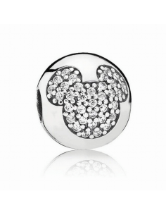 Clip Pandora. Plata. Circonita. Mickey.