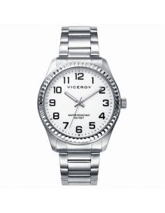 """Reloj Hombre Viceroy Acero Esfera Blanca """"Rolex"""""""