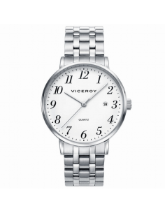 Reloj Hombre Acero Viceroy Esfera Blanca