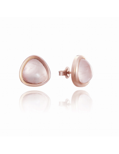Pendientes. Viceroy Jewels. Plata Rose. Cuarzo Rosa.