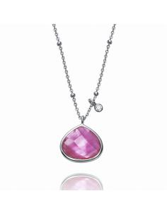 Colgante Viceroy Jewels Plata. Cristal Facetado Rosa.